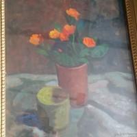 Gábor Móric: Virág csendélet ,1957