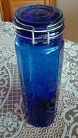 33x10 cm kék csatos uveg