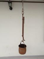 Antik tűztér fölött bográcsot tartó emelő konyhai eszköz XVIII. - XIX. század   4300
