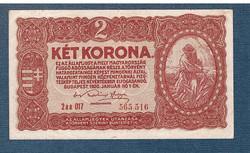 1920 2 Korona  Bécsi kiadás  EF