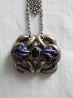 Silver Biedermeier pendant with chain!