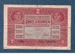 1917 2 Korona Bélyegzés nélkül