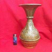 Réz-Bronz Kézműves Keleti Váza.26.5 cm.
