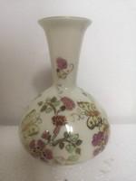 Zsolnay pillangós arannyal festett virágos váza