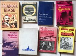 8 darab történelmi könyv- könyvcsomag