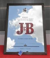 J&B Whisky tükör -kép