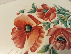 Meissen tiles with hand-painted poppies
