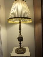 Egyedi, szép lámpa(ónix+réz), új búrával(85cm) eladó