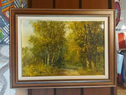 Benda Zoltán festménye, olaj, farost, 40x60+gyönyörű kerete