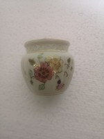 Zsolnay pillangós virágos kis váza kaspó