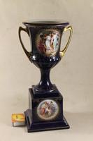 Antik barokk jelenetes porcelán serlegváza 611
