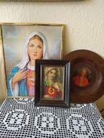 K egy tárgyak Mária és II. János Pál pápa képével