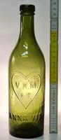 """""""V.H.M. R.T. Anna víz"""" zöld ásványvizes üveg 0.5l (1788)"""