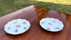 Aquincum 2 db kicsi dísz tányér ékszertartó virágos gyűrű tálka