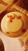 Antik tányér  rózsás