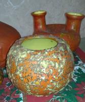 Tófej buborékos gömb váza