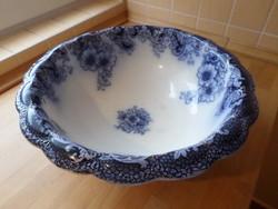 """Antik angol Alfred Meakin """"Ormonde"""" porcelán mosdótál 42 cm"""
