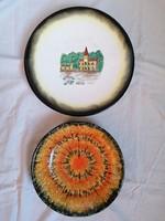 2db Bodrogkeresztúri fali tányér