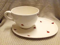 Teás csésze +tálca