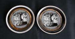 Hollóházi porcelán tányér (Szász Endre)