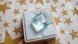 10.40 karátos brazil kék akvamarin drágakő tanúsítvánnyal