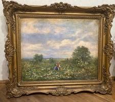 19.századi osztrák vagy német festmény blondel keretben
