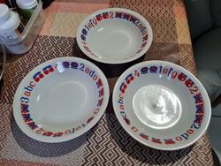 Alföldi ABC leveses tányér 3 db 19 cm