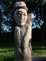 Régi faragott fa szobor 97 cm magas! (613)
