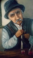 Olaj festmény Portré