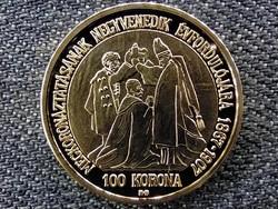 Magyar aranypénzek utánveretben Ferenc József jubileumi 100 korona .999 ezüst PP (id46866)