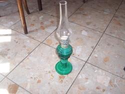 NAGYON RITKA! Malachit üveg petróleum lámpa