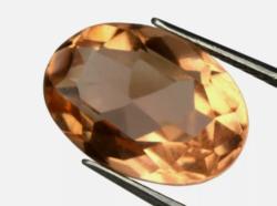 Különleges Aukciót! Igazi gyűjtői darab Ovális Arany Narancs Topáz 5.60Ct tanúsítással