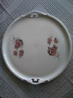 Haas&Cajzek in Schlaggenwald jelzéssel porcelán tálca, kézi festéssel 1800-as évekből!