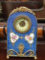 Antik porcelán asztali óra
