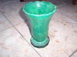 Extra vastag zöld Malachit váza