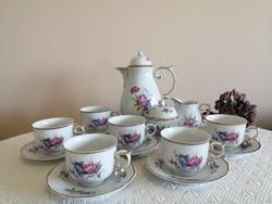 Hollóházi hajnalka mintás teás készlet eladó