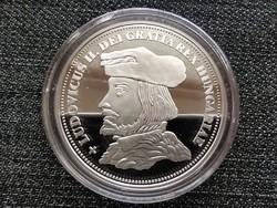 Királyi Koronák Utánveretben II. Lajos 5 korona .999 ezüst PP (id23503)