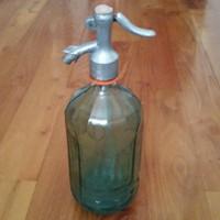 Szódás üveg ,bordázott falú