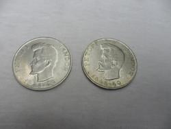 2 db szép Petőfi  ezüst 5 forintos 1948