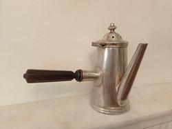 Antik krómozott réz csokoládé csoki kiöntő kancsó konyhai étterem vendéglátás eszköz  4276