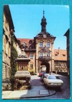 Németország,Bamberg,városháza,használt képeslap