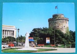 Görögország, Thesszaloniki Fehér Torony emlékmű és múzeum,postatiszta képeslap