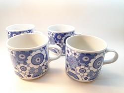 Alföldi kék virágos bögrék 4 db egyben
