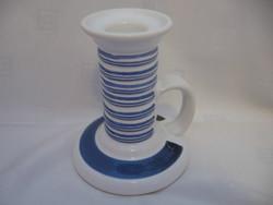 Gollhammer kék-fehér shabby gyertyatartó