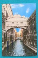 Olaszország,Velence,Sóhajok hídja,postatiszta képeslap
