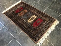 PAKISZTÁNI kézi csomózású gyapjú PERZSA szőnyeg, 63 x 120 cm