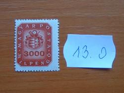 MAGYAR KIR. POSTA  3000 MIL PENGŐ 1946 címer 13.O