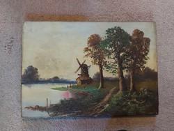 53x37 cm, festmény, vastag olaj, vászon, szignós