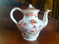 Antik fajansz Sarreguemines Minton hatalmas teás kávés kanna cca.1862.
