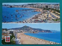 Spanyolország,Costa Brava lenyűgöző kapuja,Blanes,postatiszta képeslap